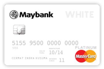 Kartu Kredit Maybank White MasterCard Platinum
