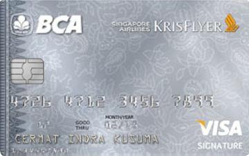 Kartu Kredit Bca Singapore Airlines Krisflyer Visa Signature Cermati Com