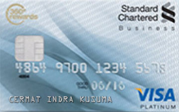 Kartu Kredit Standard Chartered Visa Business Card Platinum