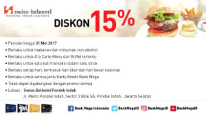 Swiss Cafe Diskon 15% Bank Mega