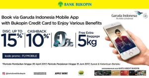 Book Via Garuda Indonesia Mobile App Disc Up To 15% Promo Bukopin