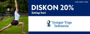 Promo Iyengar Yoga Diskon 20% UOB