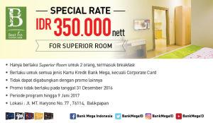 Best Inn Balikpapan Special Rate IDR Rp 350.000 Neet For Surperior Room - Bank Mega