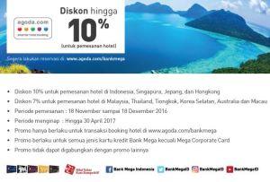 Agoda.com Diskon Hingga 10% Kartu Kredit Bank Mega
