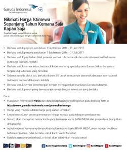 GARUDA INDONESIA Harga Istimewa Ke Mana Saja Kapan Saja - Bank Mega