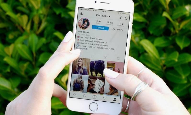 tampilan instagram pada smartphone
