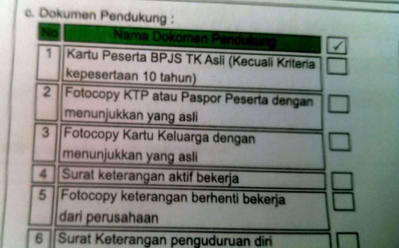 Cek Kelengkapan Dokumen