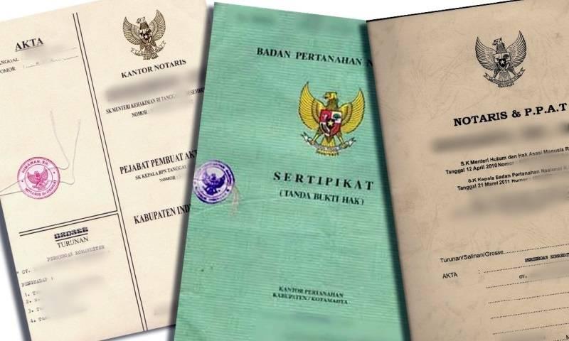 dokumen penting sertifikat tanah