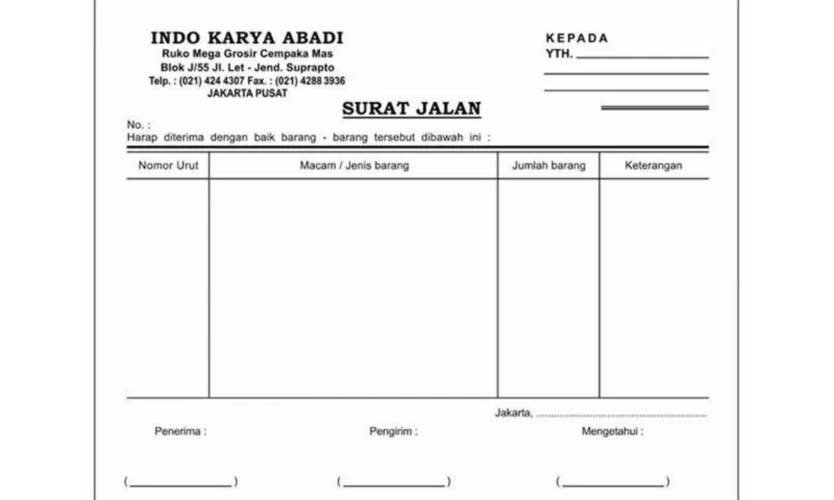Contoh Surat Jalan yang Membuat Pengiriman Barang Lebih Lancar Dijalankan - Cermati.com