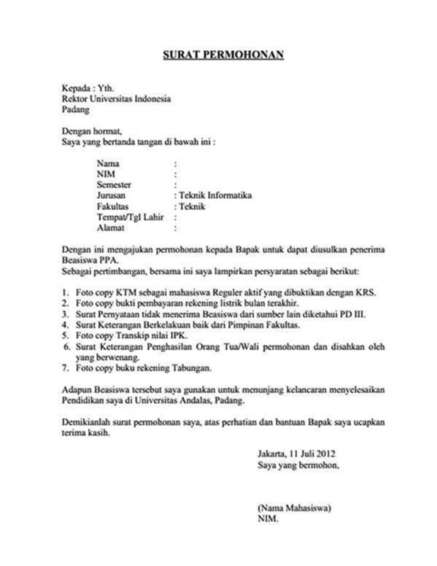 Mengenal Tentang Apa Itu Surat Permohonan Dan Contohnya Sesuai Tujuan Dan Kebutuhan Cermati Com