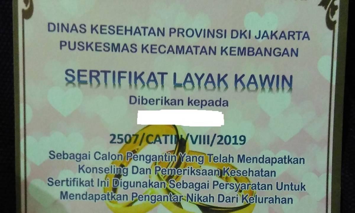 Cara Buat Sertifikat Layak Kawin Wajib Buat Kamu Yang Mau Nikah Di Jakarta Cermati Com