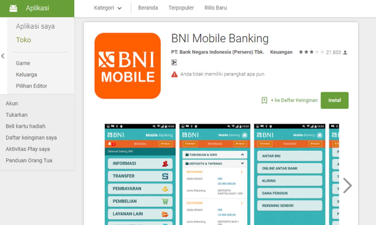 Bni Mobile Banking Dan Sms Banking Bagaimana Cara Memanfaatkannya Cermati Com