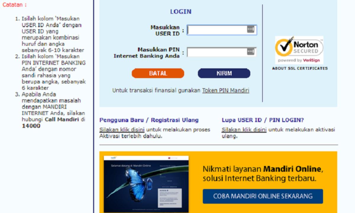 Bank Mandiri Kenali Internet Banking Dan Cara Mendaftar Cermati Com
