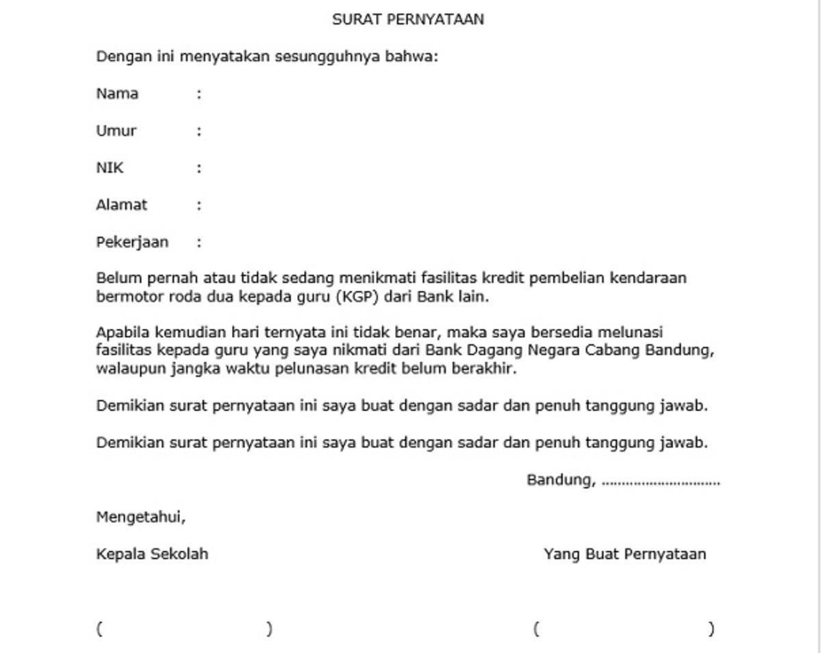 Surat Pernyataan Pahami Jenis Dan Cara Buatnya Dengan Baik