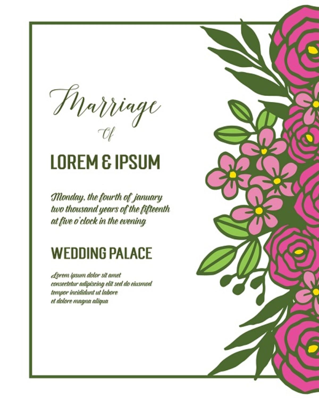 Contoh Undangan Pernikahan Untuk Jenis Formal Unik Atau