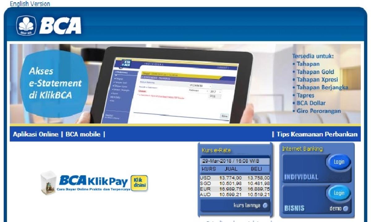 Cara Daftar BCA 'Internet Banking' dan Aktivasi - Cermati