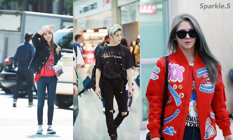 Streetwear Airport Fashion Mamamoo Moonbyul, NCT Taeyong dan SNSD Hyoyeon