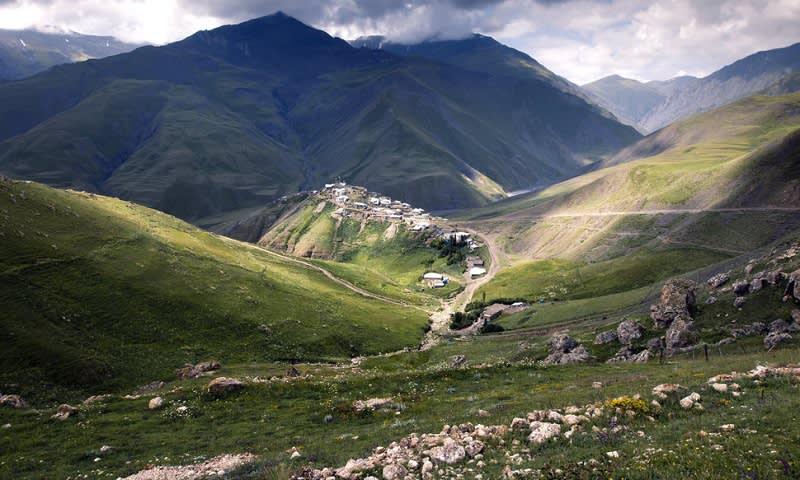 pegunungan di Xinaliq, Azerbaijan