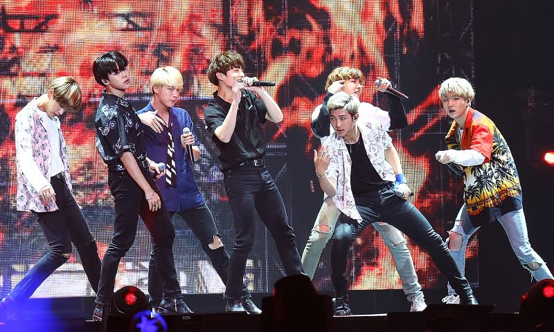 BTS Fire Stage Performance