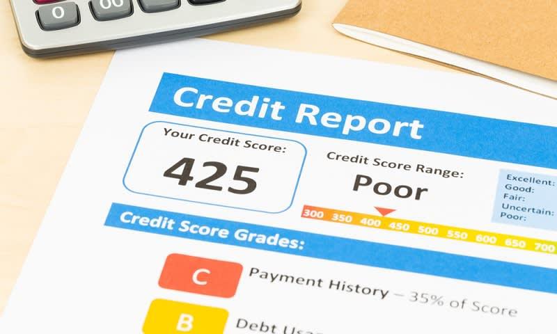 Skor kredit memburuk