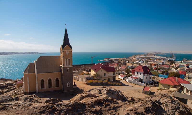 Bangunan Gereja Bergaya Eropa di Namibia, Afrika