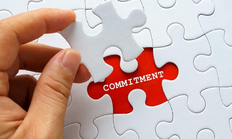 Pertahankan komitmen