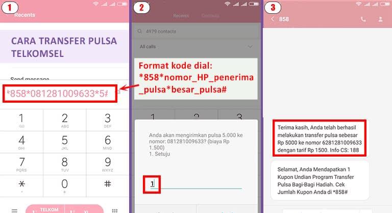 Cara Transfer Pulsa Telkomsel Simpati atau Cara Bagi Pulsa Telkomsel Simpati