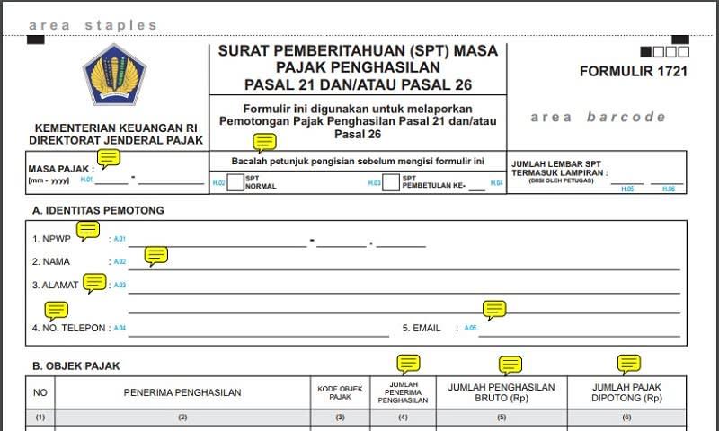 Formulir PPh 21