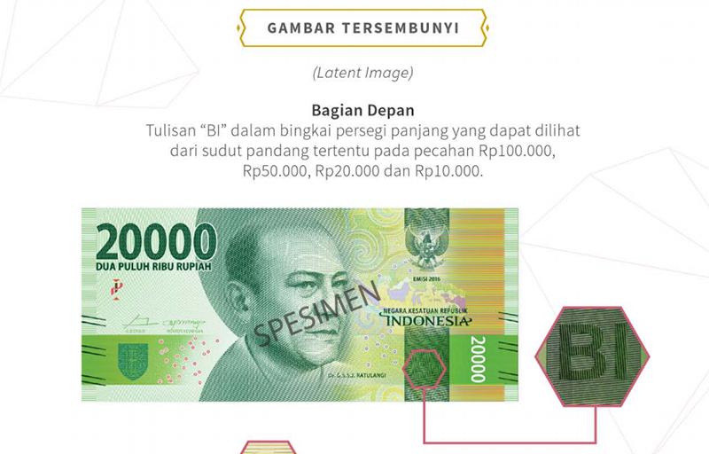 Latent Image Uang Baru Tahun Emisi 2016