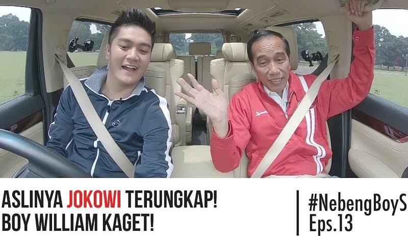 Boy William bersama Presiden Jokowi di Salah Satu Vlognya