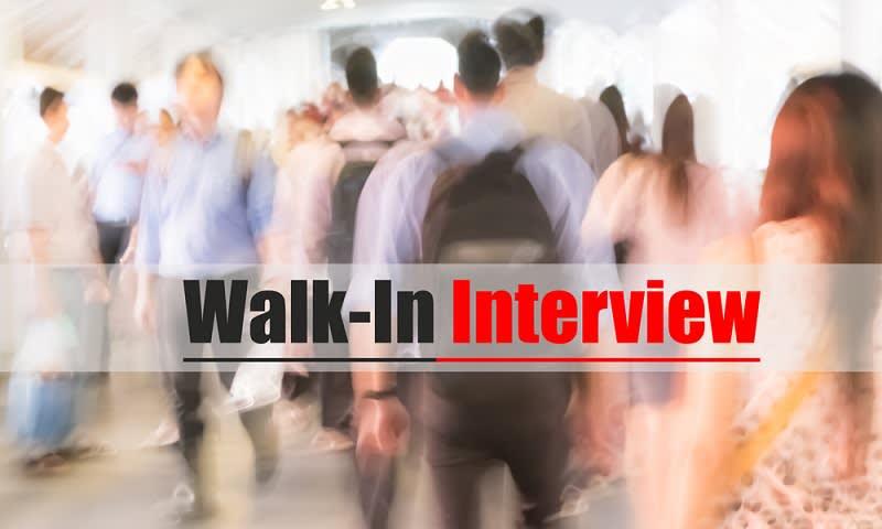 Walk in Interview