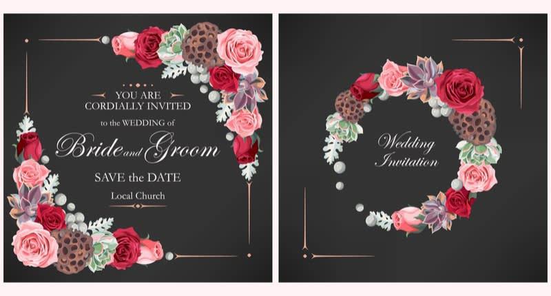 Contoh Undangan untuk Pesta Pernikahan Semi-Formal Bertema Garden Dinner Party