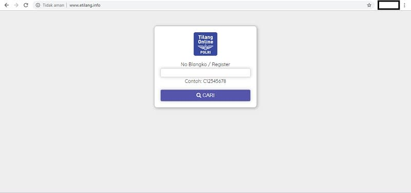 Homepage etilang.info
