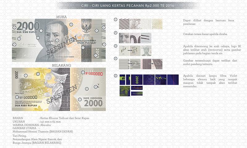 Uang Baru Rp2.000 tahun emisi 2016