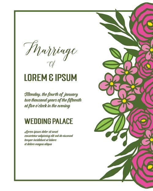 Contoh Undangan Pernikahan untuk Tema Pesta Pernikahan yang Sederhana untuk Keluarga dan Kerabat Dekat Saja