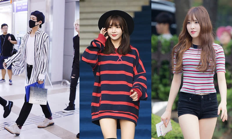 Striped Shirt/T-Shirt Fashion BTS V, Fiestar Cao Lu dan Gfriend Yuju