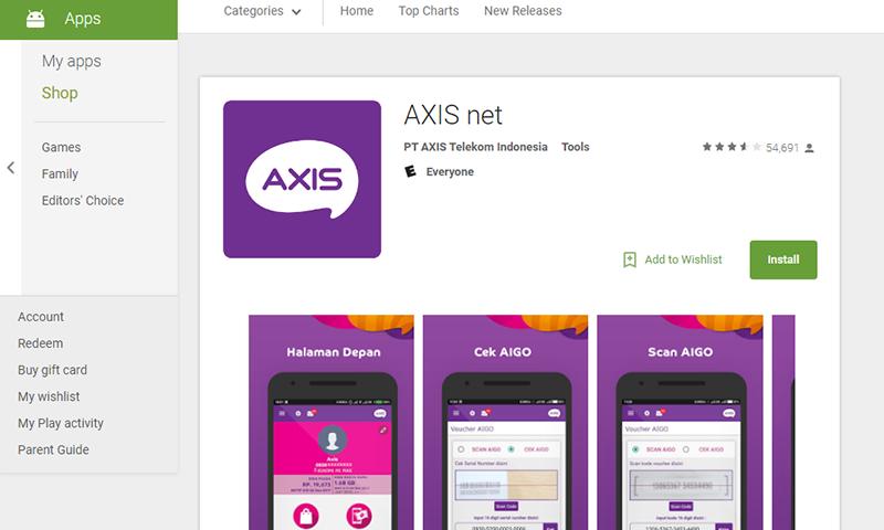 Cek Kuota AXIS melalui aplikasi Android