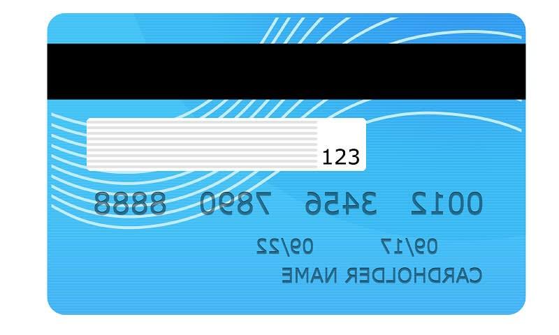 Bagian Belakang Kartu Kredit