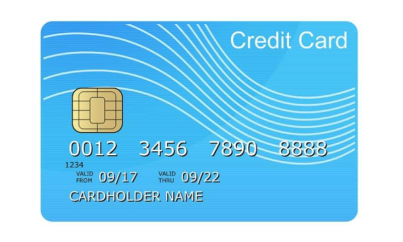 Bagian Depan Kartu Kredit