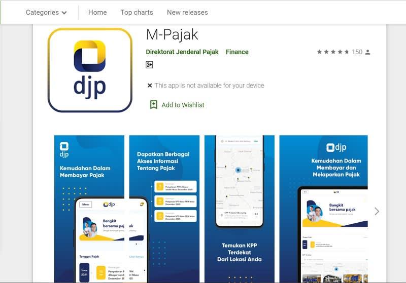 Google Playstore Aplikasi M-Pajak