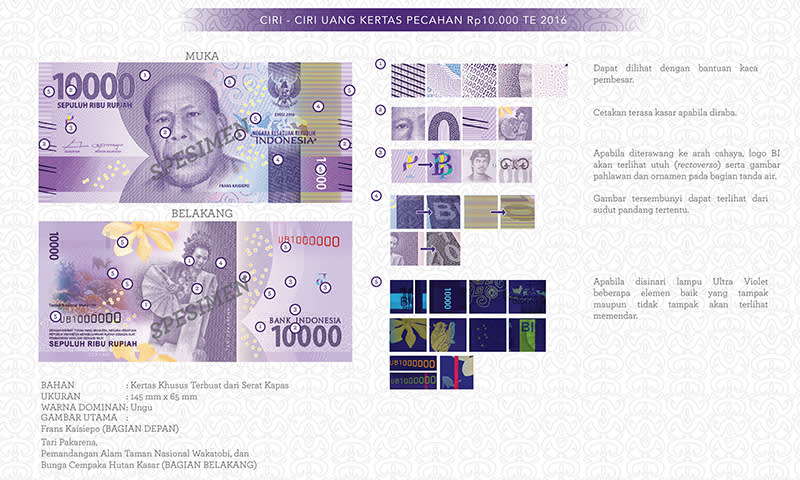 Uang Baru Rp10.000 Tahun Emisi 2016
