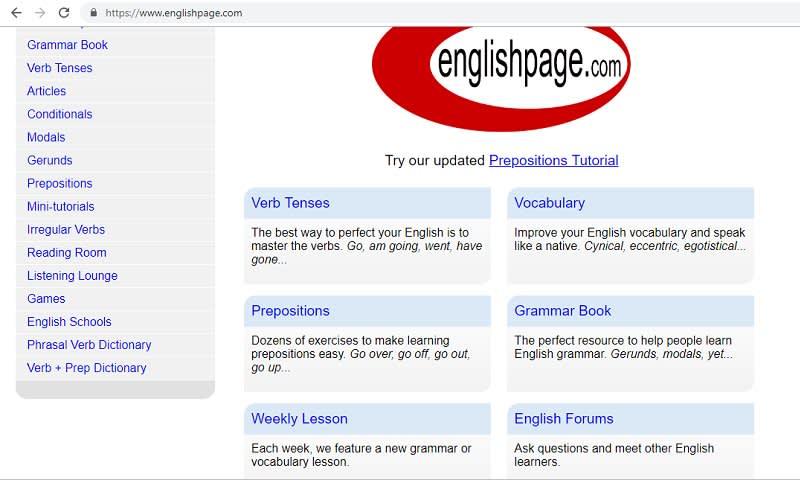 homepage englishpage.com