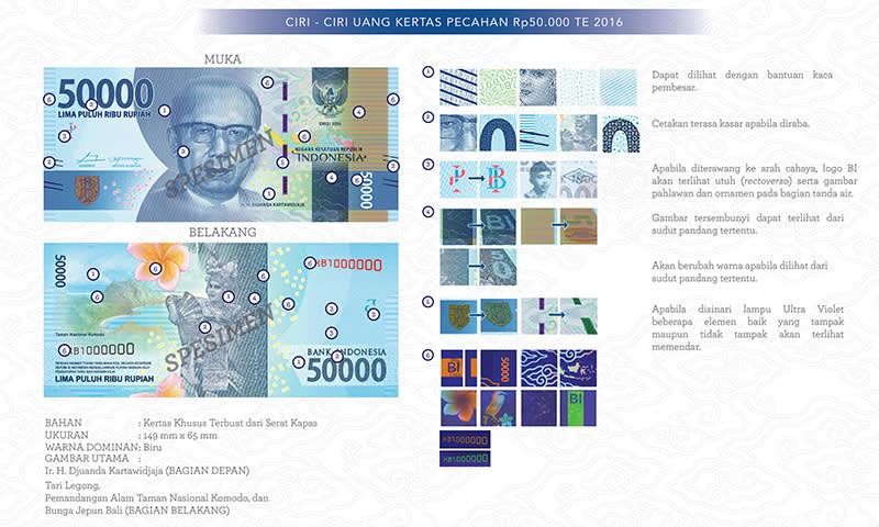 Uang Baru Rp50.000 Tahun Emisi 2016