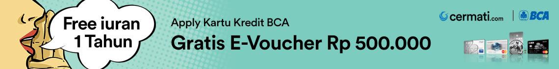 Promo Kartu  Kredit BCA Voucher Blibli Rp 500.000
