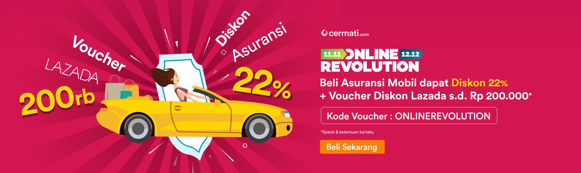 Diskon Asuransi Mobil 22% - Online Revolution