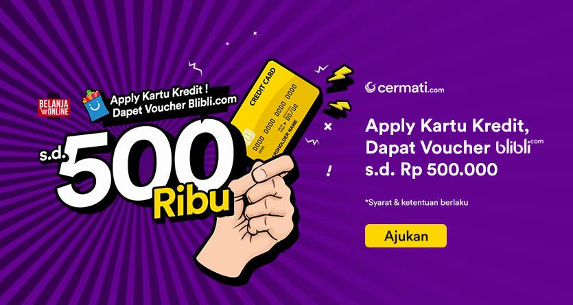 Apply Kartu Kredit Dapat Voucher Blibli s/d Rp 500.000