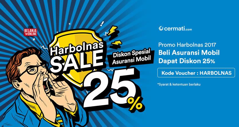 Asuransi Mobil Diskon 25% - Harbolnas