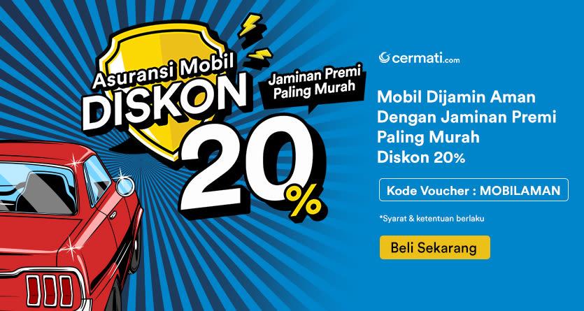 Asuransi Mobil Diskon 20%