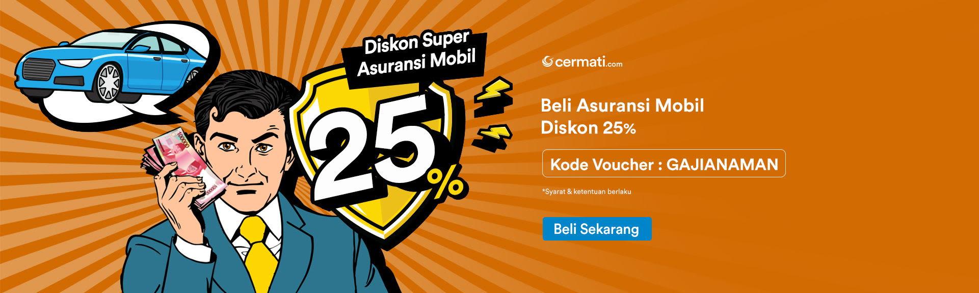 Asuransi Mobil Diskon 25%