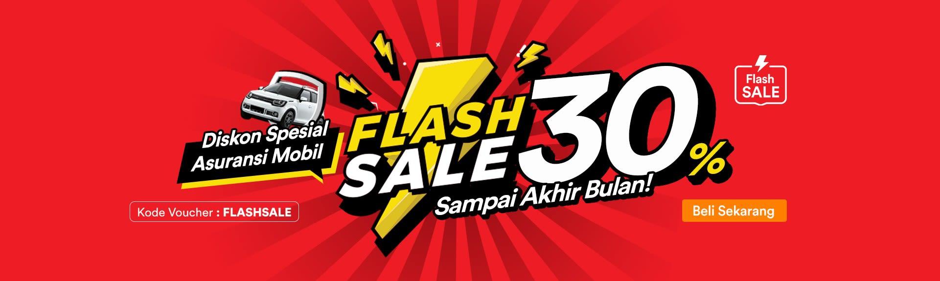 Flash Sale - Diskon 30% Asuransi Mobil